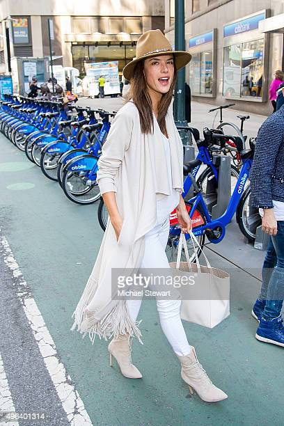 Model Alessandra Ambrosio is seen in Midtown on November 9 2015 in New York City