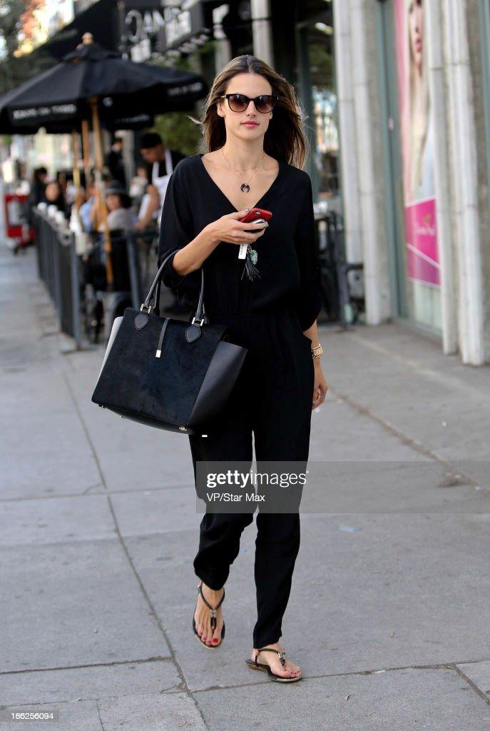 Model Alessandra Ambrosio is seen on October 29, 2013 in Los Angeles, California.