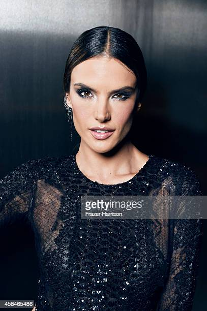 Model Alessandra Ambrosio poses for a portrait at the amfAR LA Inspiration Gala on October 29 2014 in Los Angeles California