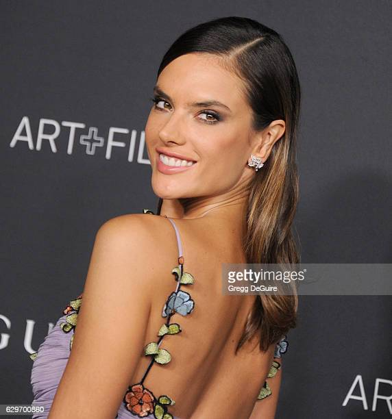 Model Alessandra Ambrosio wearing Gucci arrives at the 2016 LACMA Art Film Gala Honoring Robert Irwin And Kathryn Bigelow Presented By Gucci at LACMA...
