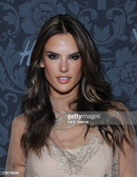 Model Alessandra Ambrosio wearing HM attends HM Vogue Studios Celebrate 'Between The Shows' on September 6 2013 in New York City