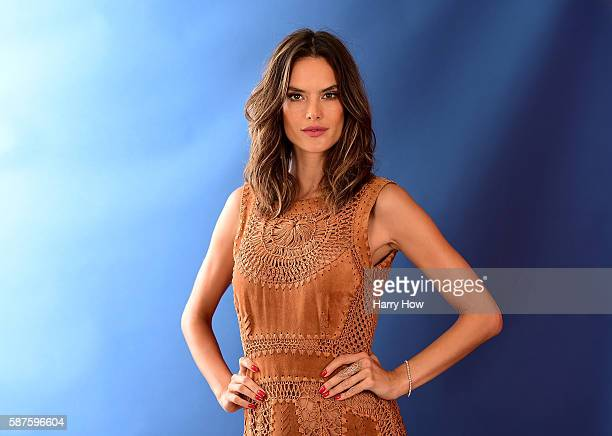 Model Alessandra Ambrósio poses for a photo on the NBC Today show set on Copacabana Beach on August 8 2016 in Rio de Janeiro Brazil