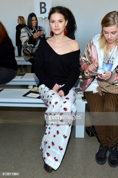 Model Alessandra Ford Balazs attends the front row for Noon by Noor during New York Fashion Week The Shows at Gallery II at Spring Studios on...