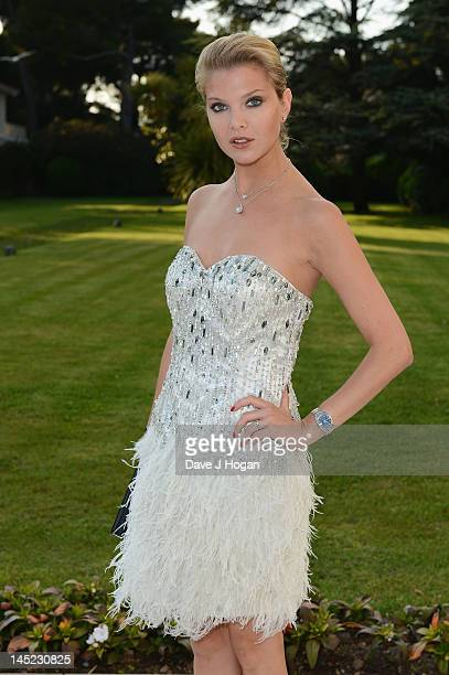 Model Alessandra Pozzi arrives at the 2012 amfAR's Cinema Against AIDS during the 65th Annual Cannes Film Festival at Hotel Du Cap on May 24 2012 in...