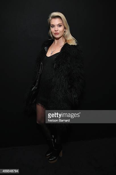 Model Alessandra Pozzi attends the Hugo Boss Prize 2014 at Guggenheim Museum on November 20 2014 in New York City