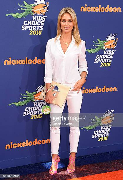 Model Alex Curran Gerrard attends the Nickelodeon Kids' Choice Sports Awards at UCLA's Pauley Pavilion on July 16 2015 in Westwood California