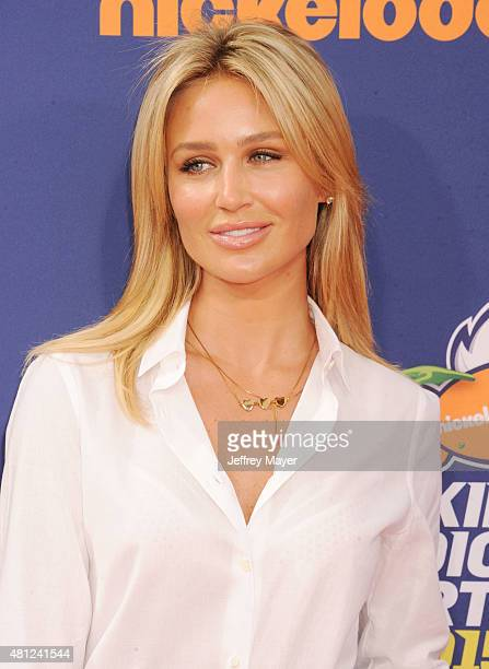 Model Alex Gerrard arrives at the Nickelodeon Kids' Choice Sports Awards 2015 at UCLA's Pauley Pavilion on July 16 2015 in Westwood California