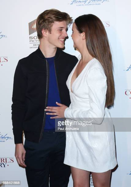 Model Alex Lange and Actress Bailee Madison attend the premiere of 'A Cowgirl's Story' at Pacific Theatres at The Grove on April 13 2017 in Los...