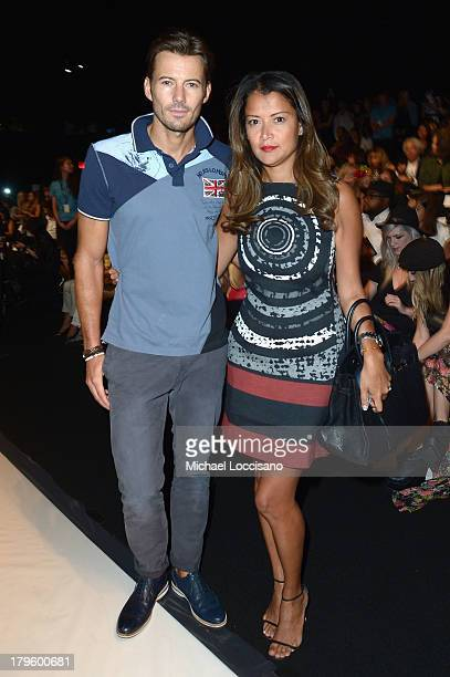 Model Alex Lundquist and Keytt Lundquist attend the Desigual Spring 2014 fashion show during MercedesBenz Fashion Week at The Theatre at Lincoln...