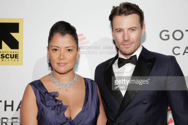 Model Alex Lundqvist and guest attend Gotham Cares Gala Fundraiser For The Syrian Refugee Crisis In Support of Medecin Sans Frontieres and The...
