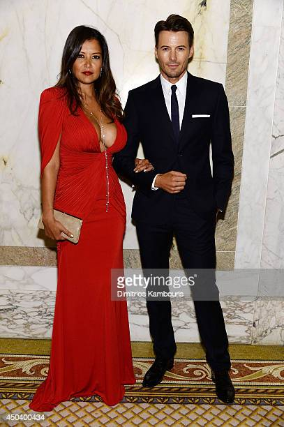 Model Alex Lundqvist and Keytt Lundqvist attend the amfAR Inspiration Gala New York 2014 at The Plaza Hotel on June 10 2014 in New York City