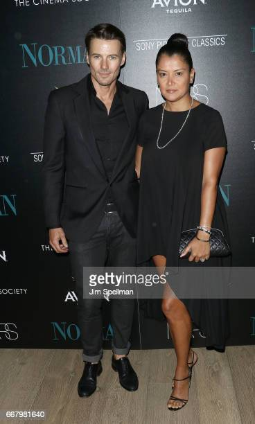 Model Alex Lundqvist and Keytt Lundqvist attend the screening of Sony Pictures Classics' 'Norman' hosted by The Cinema Society with NARS AVION at the...