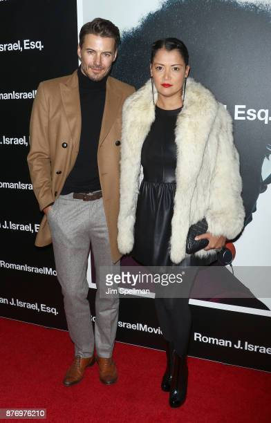 Model Alex Lundqvist and Keytt Lundqvist attends the'Roman J Israel Esquire' New York premiere at Henry R Luce Auditorium at Brookfield Place on...