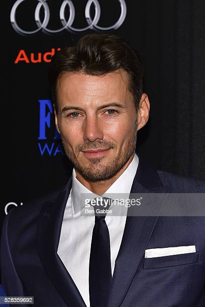 Model Alex Lundqvist attends a screening of Marvel's 'Captain America Civil War' hosted by The Cinema Society with Audi FIJI on May 04 2016 in New...