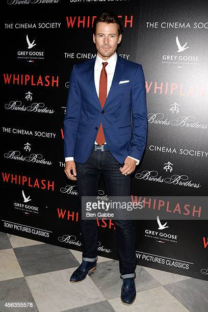 Model Alex Lundqvist attends Sony Pictures Classics' screening of 'Whiplash' hosted by The Cinema Society and Brooks Brothers at Paley Center For...