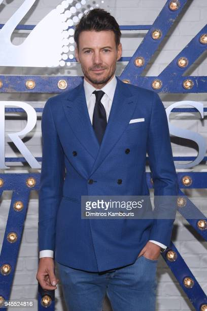 Model Alex Lundqvist attends Swarovskis Times Square Celebration at Hudson Mercantile honoring the brands most recent store opening in New York City...