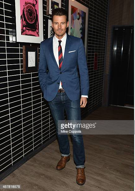 Model Alex Lundqvist attends the after party for The Secret Life Of Walter Mitty screening hosted by 20th Century Fox with The Cinema Society and...