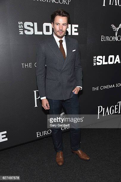 Model Alex Lundqvist attends The Cinema Society with Piaget host a screening of EuropaCorp's 'Miss Sloane'at SAGAFTRA Foundation Robin Williams...