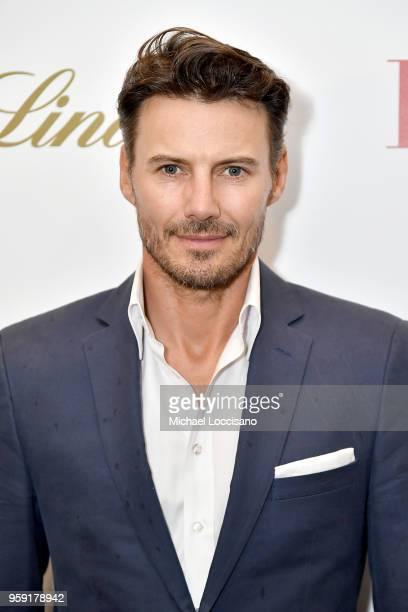 Model Alex Lundqvist attends the New York screening of 'Book Club' at City Cinemas 123 on May 15 2018 in New York City