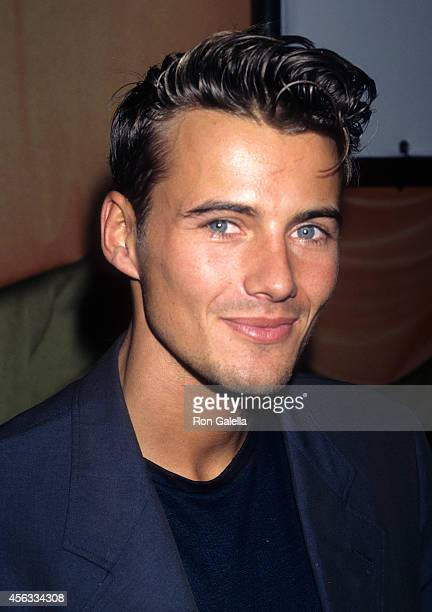 Model Alex Lundqvist attends the Party to Launch the New Hugo Boss Women's Fragrance Hugo Woman on July 21 1997 at Solomon R Guggenheim Museum in New...