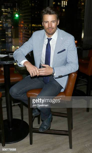 Model Alex Lundqvist attends the screening after party for Global Road Entertainment's 'Midnight Sun' hosted by The Cinema Society and Day Owl Rose...