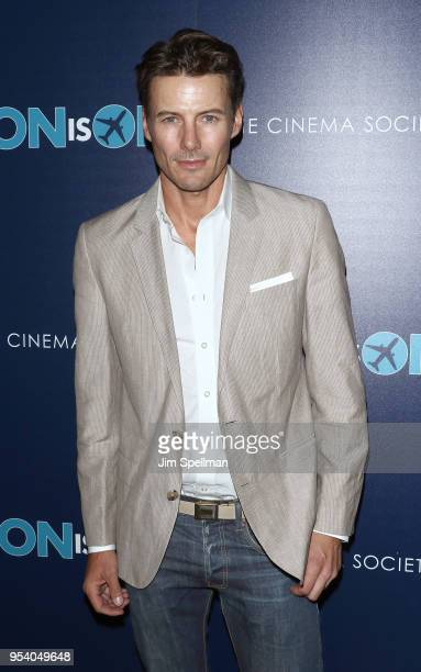 Model Alex Lundqvist attends the screening of 'The Con Is On' hosted by The Cinema Society at The Roxy Cinema on May 2 2018 in New York City