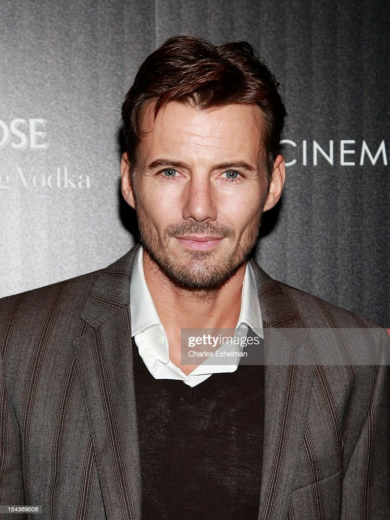 Model Alex Lundqvist attends The the Cinema Society & Grey Goose screening of 'Alex Cross' at Tribeca Grand Screening Room on October 18, 2012 in New York City.