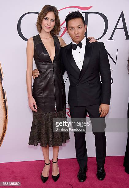 Model Alexa Chung and fashion designer Prabal Gurung attend the 2016 CFDA Fashion Awards at the Hammerstein Ballroom on June 6, 2016 in New York City.