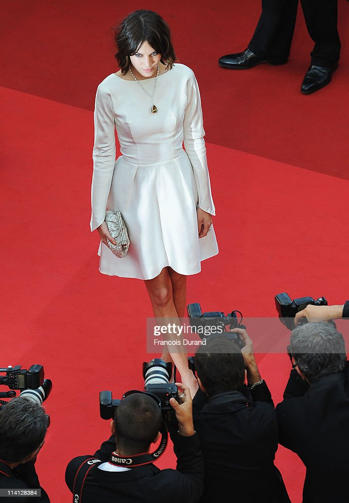 Model Alexa Chung arrives at the 'Sleeping Beauty' premiere during the 64th Annual Cannes Film Festival at the Palais des Festivals on May 12, 2011 in Cannes, France.