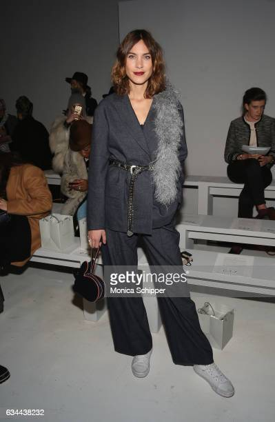 Model Alexa Chung attends the Noon By Noor fashion show during New York Fashion Week The Shows at Gallery 3 Skylight Clarkson Sq on February 9 2017...