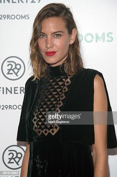 Model Alexa Chung attends the Refinery29's '29Rooms' Opening Night at 13 Huron Street on September 10 2015 in Brooklyn New York