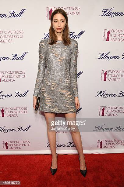 Model Alexandra Agoston attends EFA's 7th Annual Blossom Ball at Cipriani Downtown on April 13 2015 in New York City