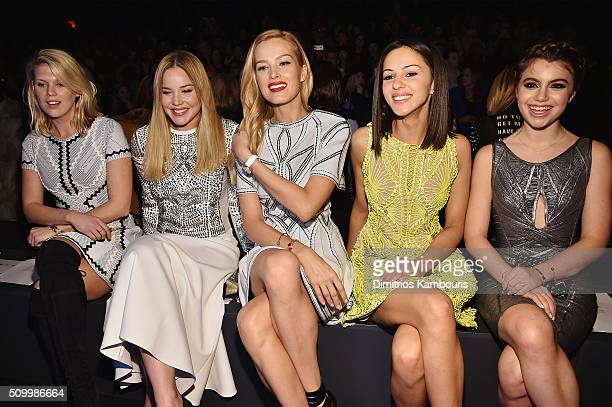 Model Alexandra Richards actress Abbie Cornish model Petra Nemcova actresses Annet Mahendru and Sami Gayle attend the Herve Leger By Max Azria Fall...