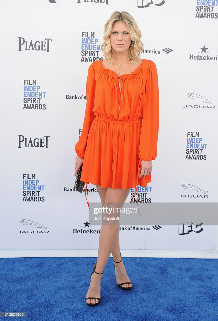 Model Alexandra Richards arrives at the 2016 Film Independent Spirit Awards on February 27, 2016 in Los Angeles, California.