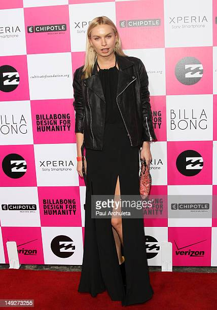 Model Alexandra Spencer attends Billabong's 6th annual Design For Humanity fashion art and music celebration benefiting the Chipotle Cultivate...