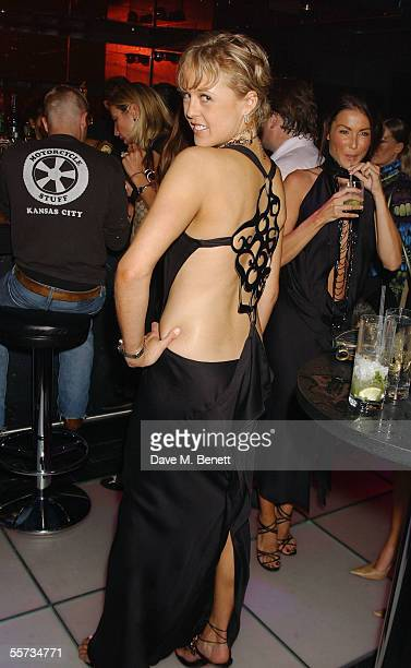 Model Alexandra SpencerChurchill poses at Maria Grochvogel's fashion show party at 50 Below Night Club September 20 2005 in London England