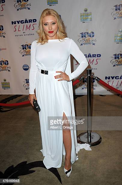 Model Alexandra Vino arrives for Norby Walters' 24nd Annual Night Of 100 Stars Oscar Viewing Gala held at Beverly Hills Hotel on March 2 2014 in...