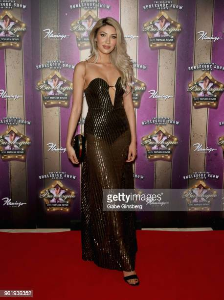 Model Alexandria Finley attends the 16th anniversary event for X Burlesque at Flamingo Las Vegas on May 23 2018 in Las Vegas Nevada