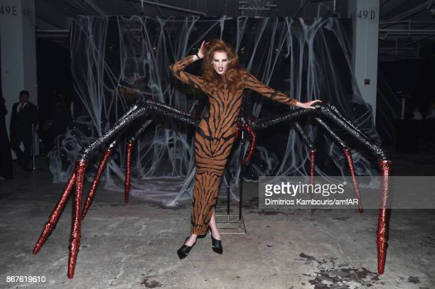 Model Alexina Graham attends the 2017 amfAR The Naked Heart Foundation Fabulous Fund Fair at Skylight Clarkson Sq on October 28 2017 in New York City