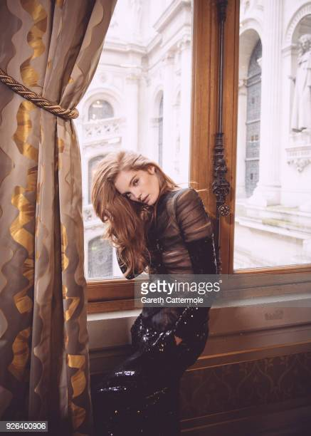 Model Alexina Graham backstage before the Balmain show as part of the Paris Fashion Week Womenswear Fall/Winter 2018/2019 on March 2 2018 in Paris...