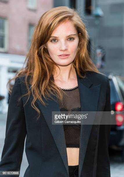 Model Alexina Graham is seen arriving to the BVLGARI world premiere screening of 'The Conductor' and 'The Litas' during the 2018 Tribeca Film...