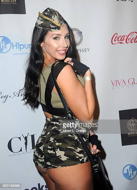Model Alexis Fallon at the Halloween House Party 2016 held at Private Residence on October 31 2016 in Tarzana California