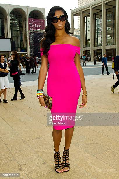 Model Alexis Jones is seen around Lincoln Center wearing all Zara and a Louis Vuitton handbag on September 10 2014 in New York City