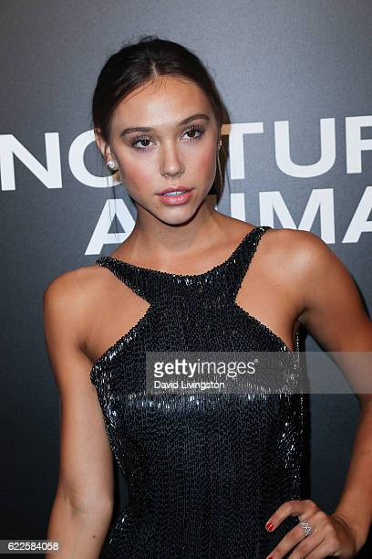 Model Alexis Ren arrives at the screening of Focus Features' 'Nocturnal Animals' at the Hammer Museum on November 11 2016 in Westwood California