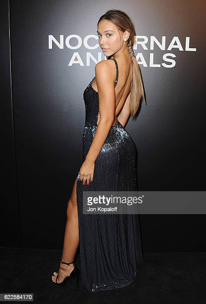 Model Alexis Ren arrives at the screening of Focus Features' Nocturnal Animals at Hammer Museum on November 11 2016 in Westwood California