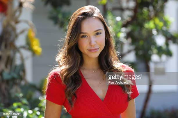 Model Alexis Ren visits Hallmark's 'Home Family' at Universal Studios Hollywood on October 12 2018 in Universal City California