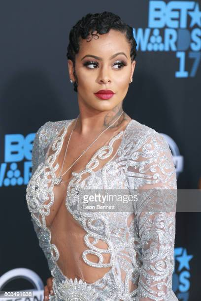 Model Alexis Skyy arrives at the 2017 BET Awards at Microsoft Theater on June 25 2017 in Los Angeles California