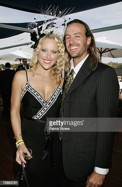 Model Ali Mutch and boyfriend Mario attend the Hemmesphere marquee during the Schweppes Sydney Cup Day the final day of the 4day Easter Racing...