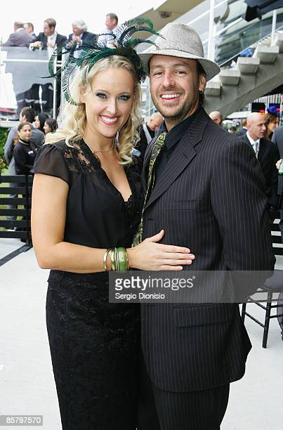 Model Ali Mutch and her partner Paul Stanner attend the Golden Slipper Day 2009 at Rosehill Gardens on April 4 2009 in Sydney Australia
