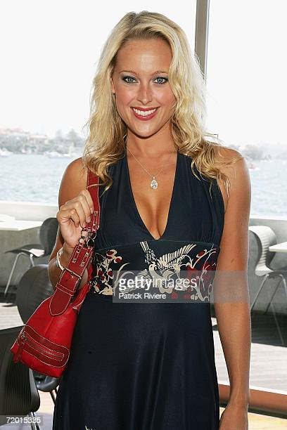 Model Ali Mutch attends the Australian Jockey Club lunch officially launching the 2006 Emirates Fashions on the Field for the upcoming Spring Racing...